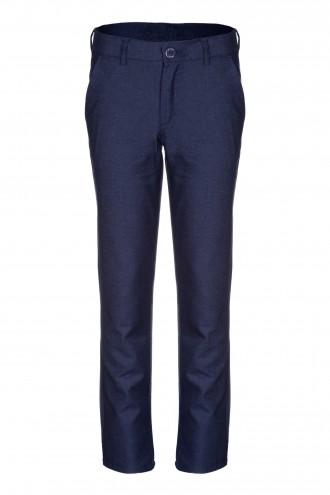 Granatowe spodnie garniturowe