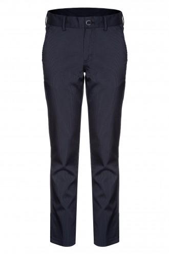 Prążkowane spodnie garniturowe