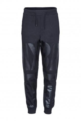 Spodnie dresowe z czarnym nadrukiem