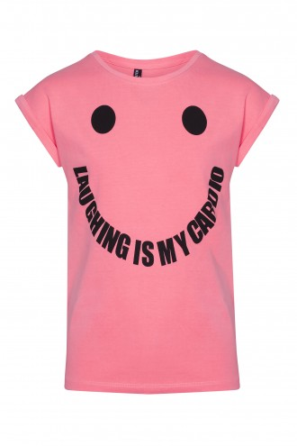 T-shirt Laughing is my cardio Pink