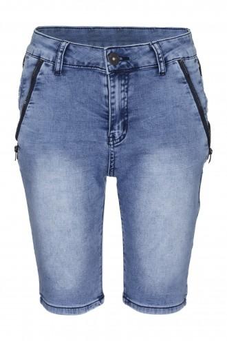 Krótkie spodenki dżinsowe z zamkami Blue