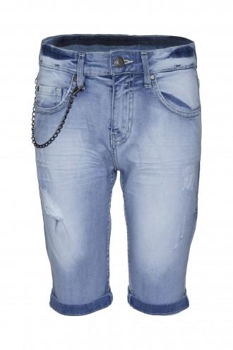 Spodenki dżinsowe z przetarciami za kolano