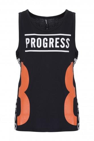 Koszulka bez rękawów z nadrukiem Progress