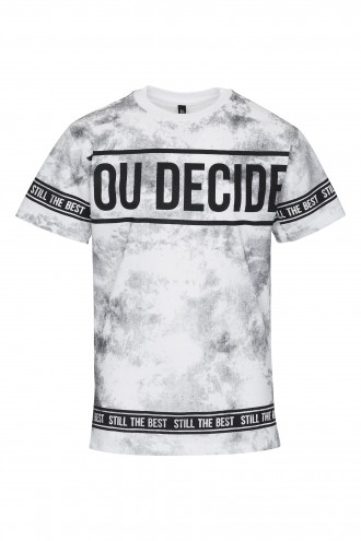 T-shirt z nadrukiem marmurkowym You Decide