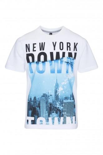 T-shirt chłopięcy z nadrukiem New York