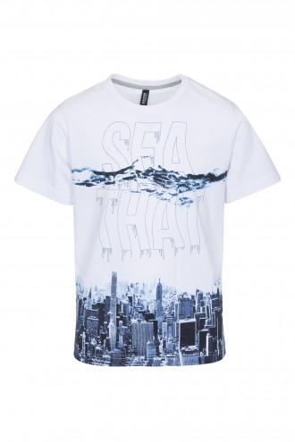 T-shirt chłopięcy z nadrukiem Sea That