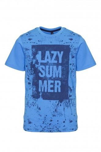 T-shirt chłopięcy z nadrukiem Lazy Summer