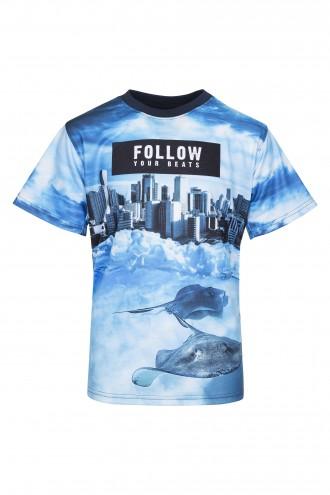 T-shirt chłopięcy z nadrukiem Follow
