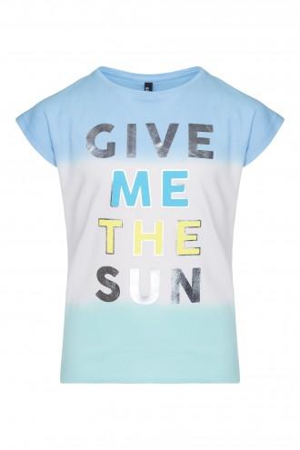 T-shirt dziewczęcy  z przejściem tonalnym The Sun