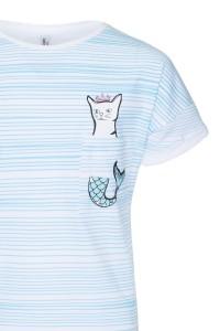 T-shirt z kieszonką Oh my cat!