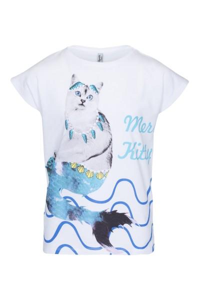 T-shirt z nadrukiem Mermaid or Cat