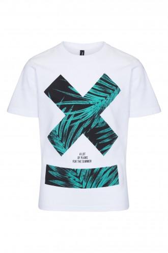 T-shirt chłopięcy z nadrukiem X-Palm