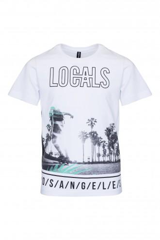 T-shirt chłopięcy z nadrukiem Locals
