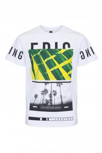 T-shirt chłopięcy z nadrukiem Loading