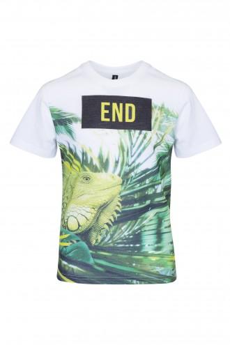 T-shirt chłopięcy z nadrukiem The End