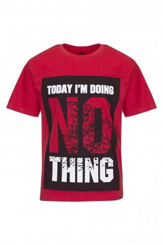 T-shirt chłopięcy z nadrukiem Doing Nothing