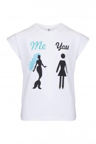 T-shirt dziewczęcy z nadrukiem Me and You