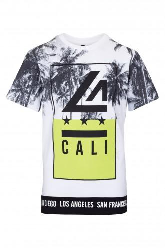 T-shirt chłopięcy z nadrukiem Cali