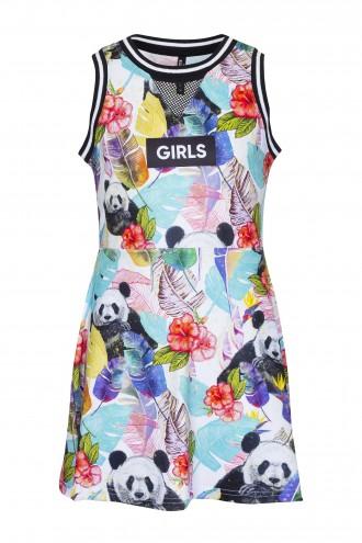 Sukienka bez rękawów z nadrukiem Hot Tropics