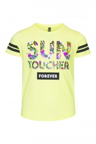T-shirt dziewczęcy z nadrukiem Sun