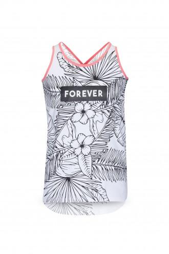 T-shirt dziewczęcy z nadrukiem FOREVER
