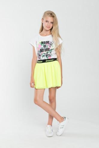 Dziewczęca spódniczka w limonkowym kolorze