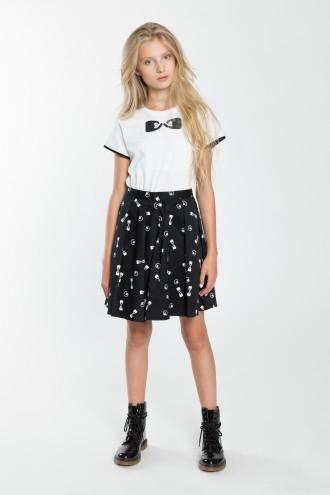 Dziewczęca spódniczka z nadrukiem w motyw kokardek