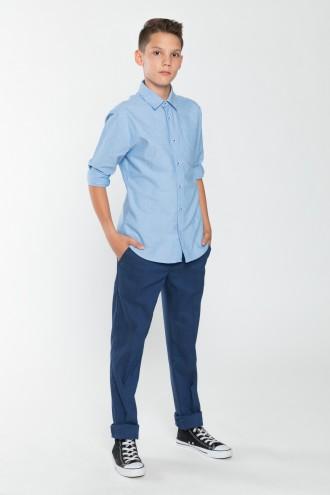 Chłopięce spodnie garniturowe niebieskie