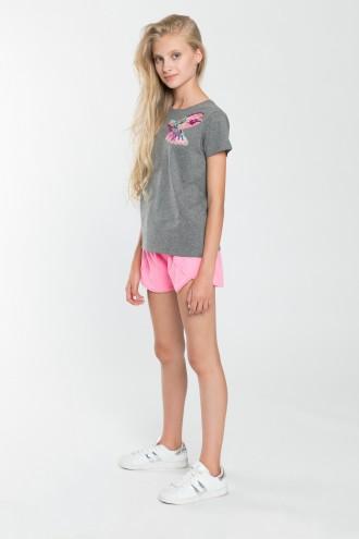 Dziewczęce szorty z koronką Think Pink