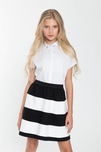Dziewczęca koszula z krótkim rękawem Elegance