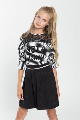 Bluzka dziewczęca z elementem koronki Insta Love