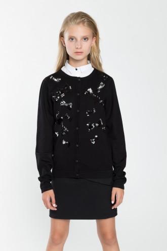 Sweterek dziewczęcy z odwracalnymi cekinami