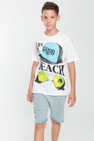 Chłopięcy T-shirt z nadrukiem Beach