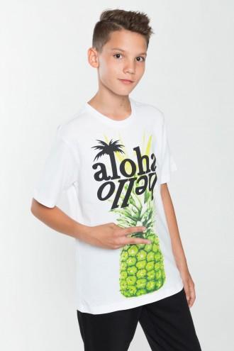 Chłopięcy T-shirt z nadrukiem Aloha