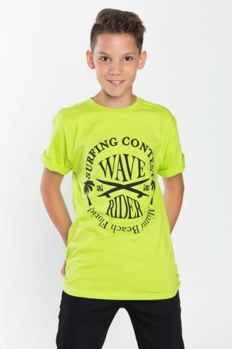 Chłopięcy T-shirt z nadrukiem Wave