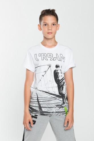 T-shirt chłopięcy z nadrukiem Urban