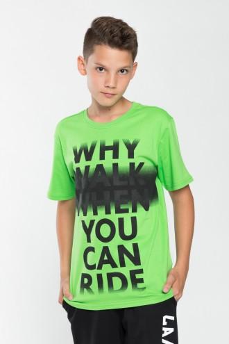 T-shirt chłopięcy z nadrukiem You Can Ride