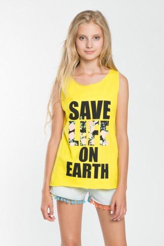 Koszulka dziewczęca na ramiączkach Life On Earth