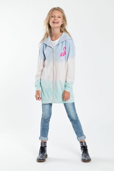 Dziewczęca bluza z kapturem FLAMINGO