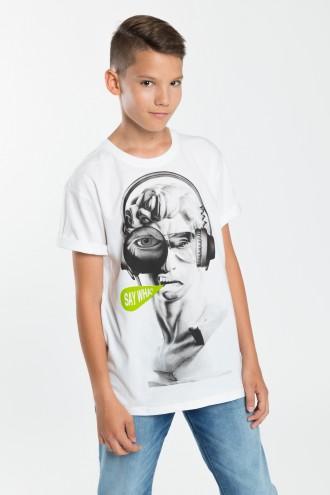 Chłopięcy T-shirt z nadrukiem Say What?