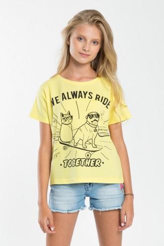 Dziewczęcy T-shirt z nadrukiem Ride Together
