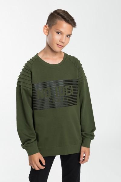 Chłopięca bluza khaki z nadrukiem No Idea