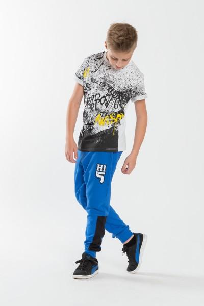 Chłopięce spodnie dresowe z nadrukiem Hi5