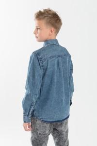 Chłopięca koszula dżinsowa z nadrukiem Nowhere