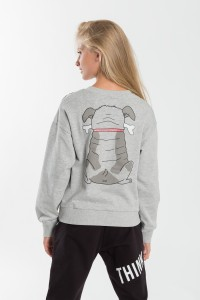 Dziewczęca bluza z nadrukiem Pug You