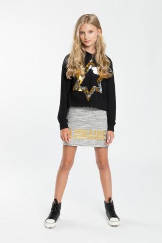 Dziewczęca sukienka z krótką bluzą z cekinami She's a star