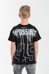 Chłopięcy T-shirt z nadrukiem Impossible