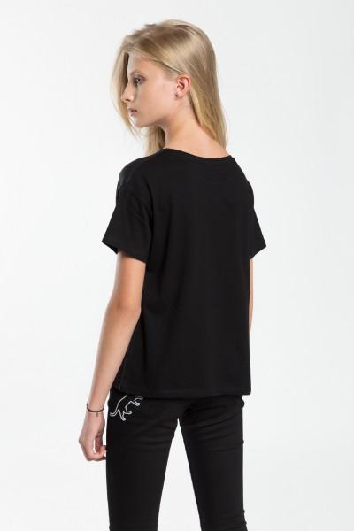 Dziewczęcy T-shirt z nadrukiem Dance