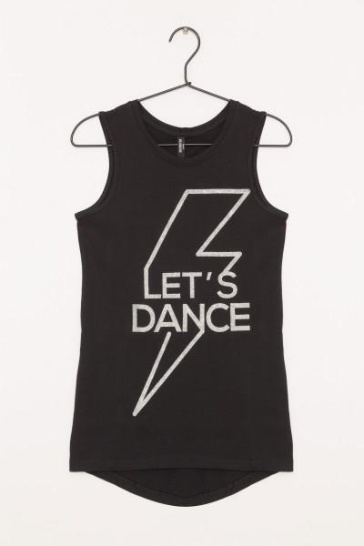 Dziewczęcy T-shirt z nadrukiem Dance Black