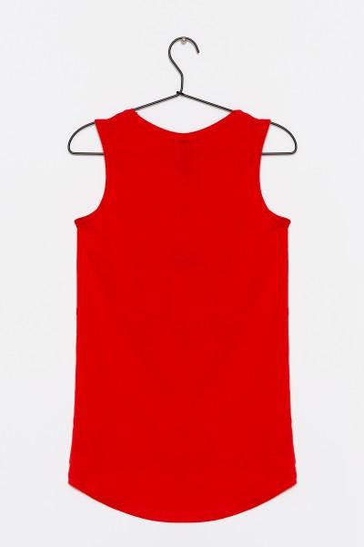 Dziewczęcy T-shirt z nadrukiem Dance Red